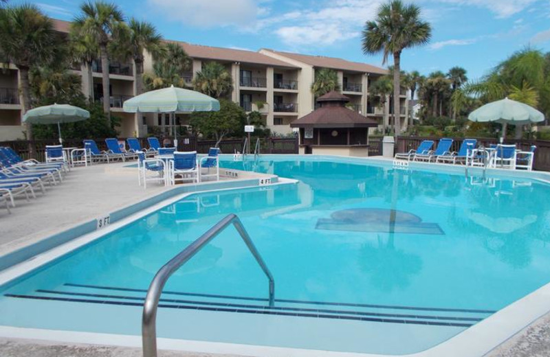 Rental pool at St. Augustine Beach Vacation Rentals.