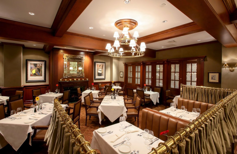 Dining room at The Townsend Hotel.