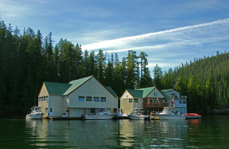 Exterior view of Nootka Wilderness Lodge.