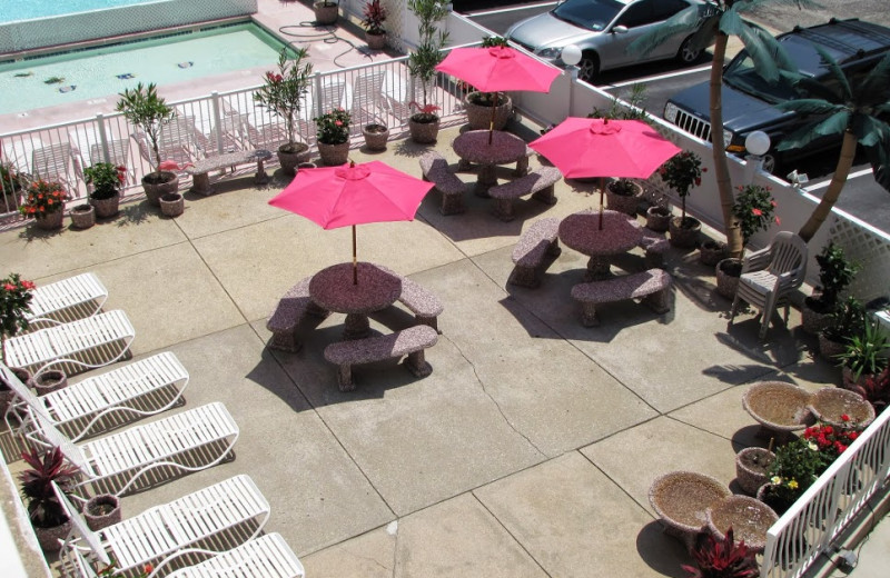 Pool patio at Paradise Oceanfront Resort.