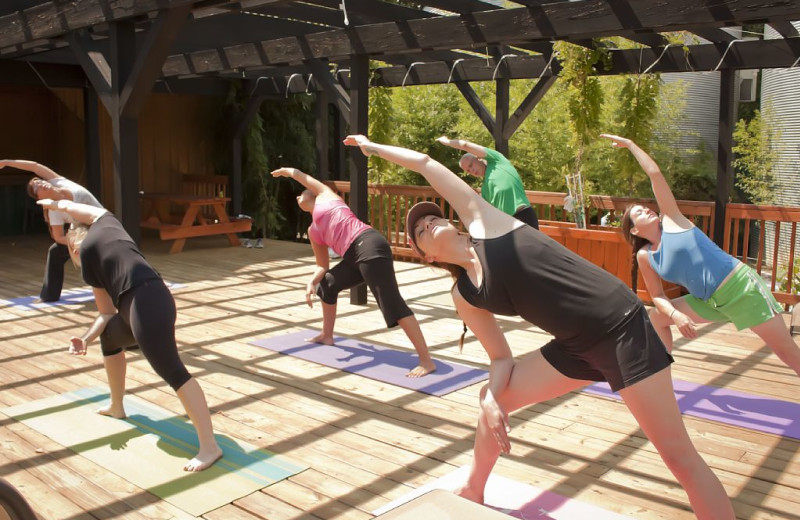 Yoga at Elk Ridge Ranch.