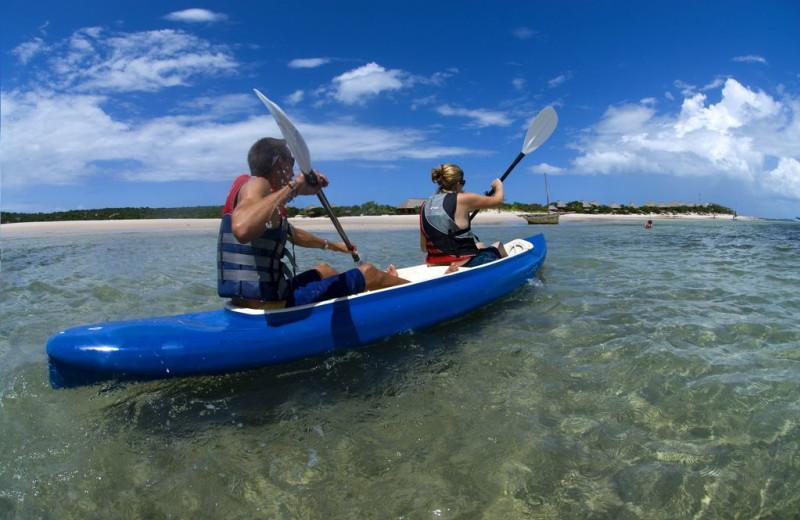 Canoeing at Marlin Lodge.