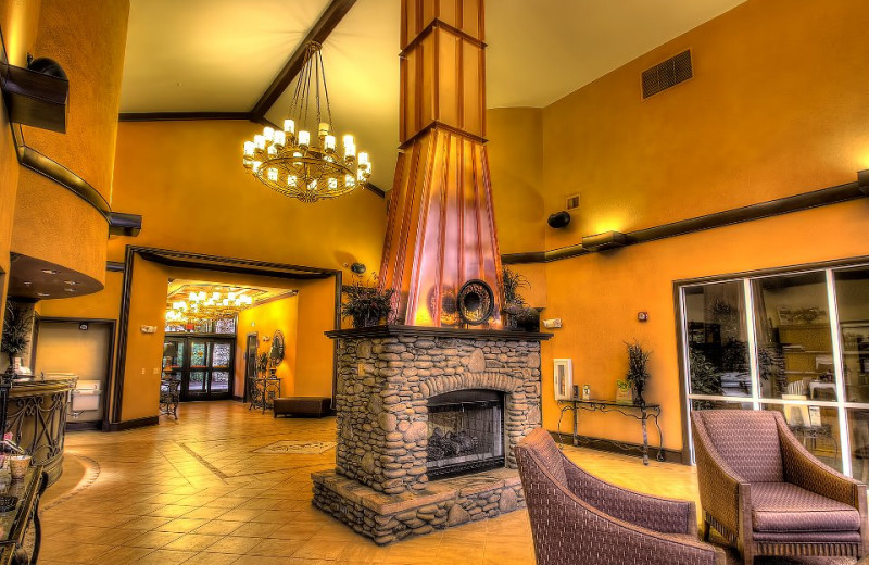 Fireplace area at Riverstone Resort & Spa.