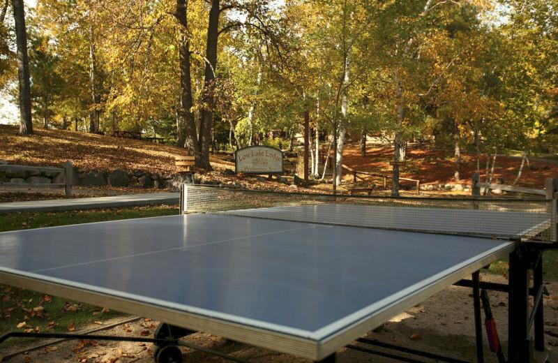 Ping-pong at Lost Lake Lodge.