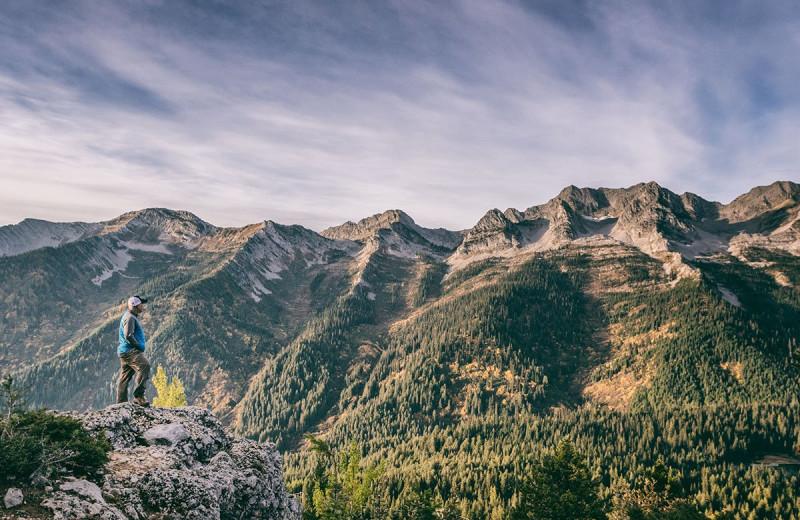 Mountains at Island Lake Lodge.