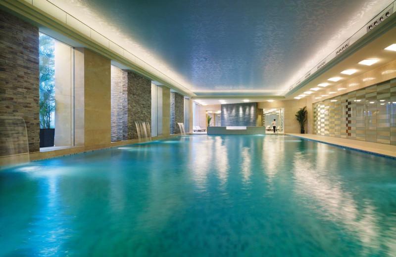 Indoor pool at Shangri-La Hotel-Qingdao.