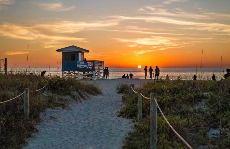 Beach sunset at Inn At The Beach Resort.