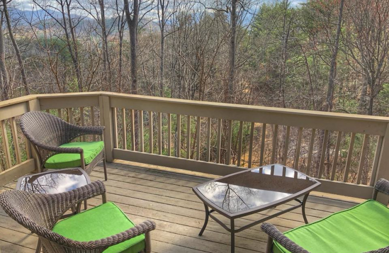 Deck view at Asheville Mountain House.