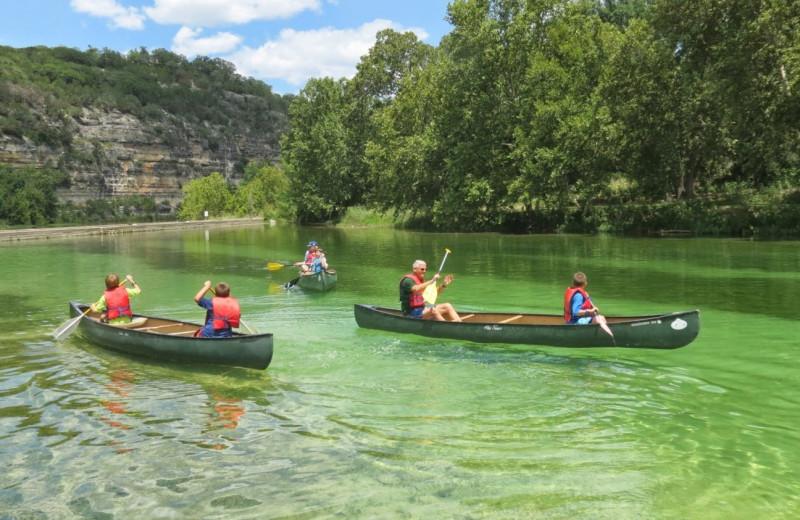 Canoeing at Mo-Ranch.