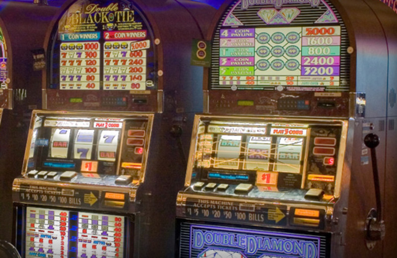 Slot machines at Lodge at Cliff Castle.