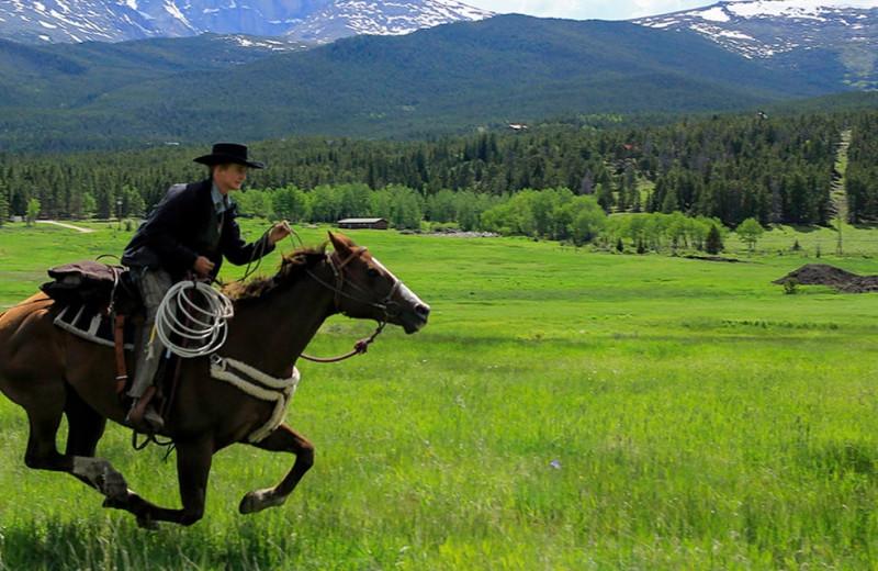 Horseback riding at Wind River Ranch.