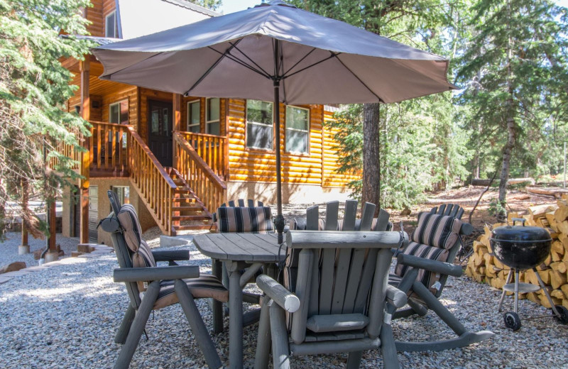 Rental patio at Family Time Vacation Rentals.