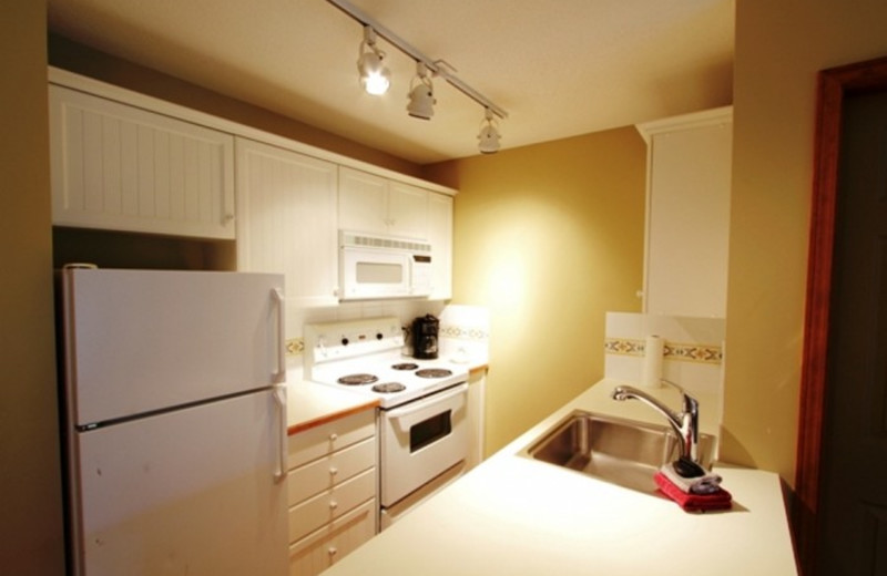 Vacation rental kitchen at Whistler Premier Resort.