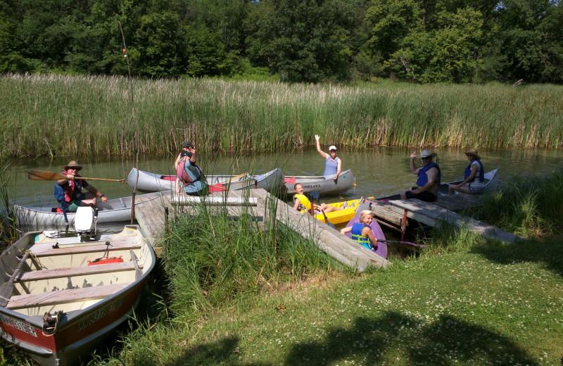 Canoe trip at Woodlawn Resort.