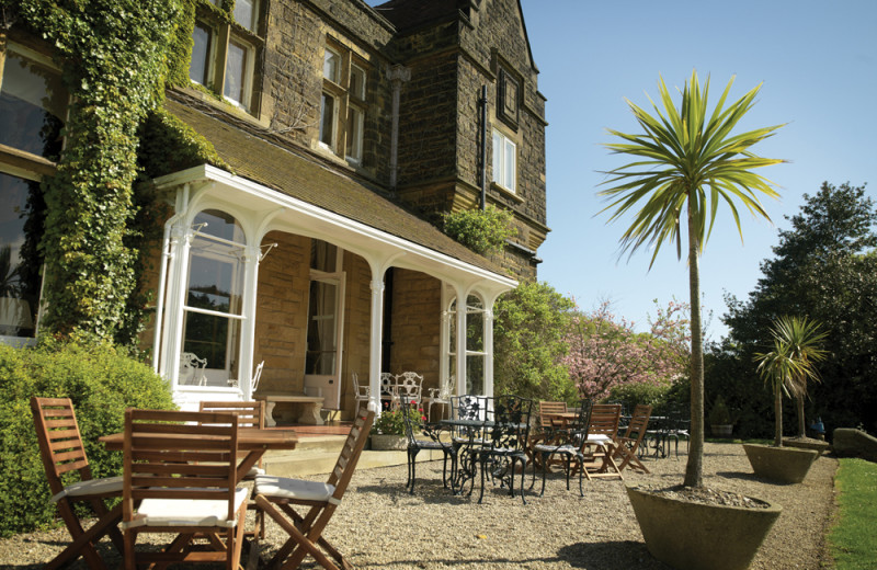 Patio at Wrea Head Country House Hotel.