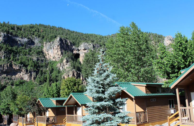 Exterior view of Glenwood Canyon Resort.