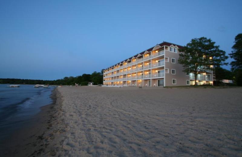Beach view at Bayshore Resort.