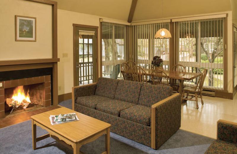 Living Room at Wyndham Vacation Resorts Shawnee Village.