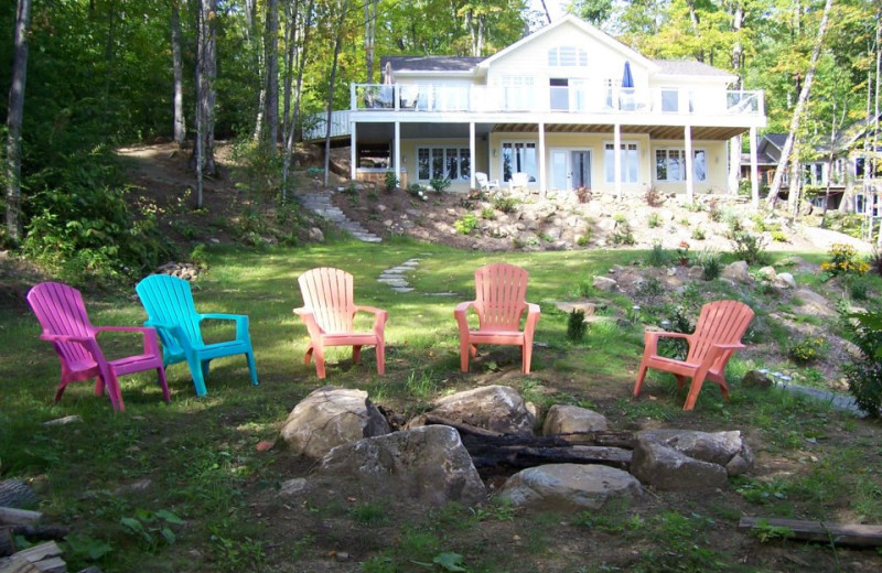 Lots of upgrades and extras at this high end cottage at All-Season Cottage Rentals.