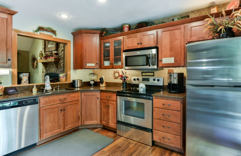 Rental kitchen at Amazing Branson Cabin Rentals - RentBranson.