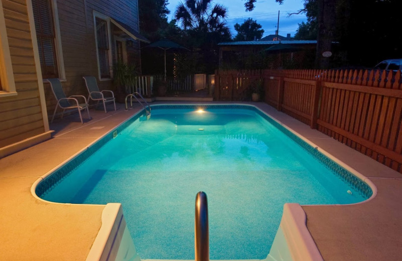 Outdoor pool at Noble Manor.