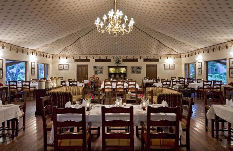 Dining at Samode Bagh.