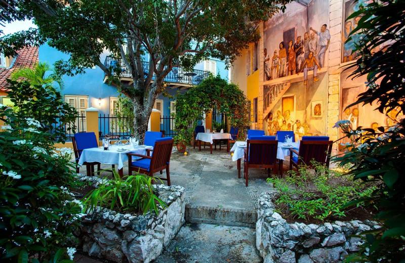 Patio at Kura Hulanda Resorts Curacao.