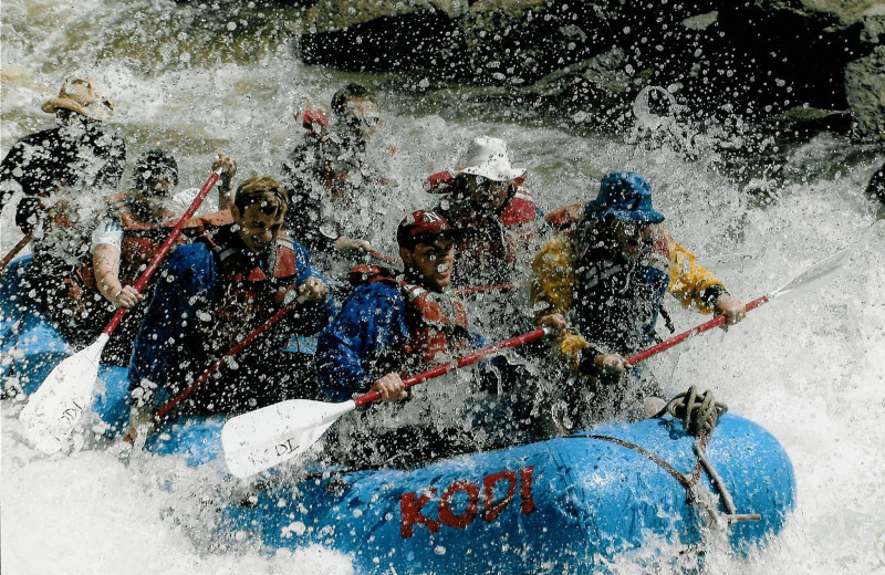 White water rafting on the Arkansas River nearby Black Wolf Lodging homes. Book in May or June for exciting rides or in July or August for a fun float!