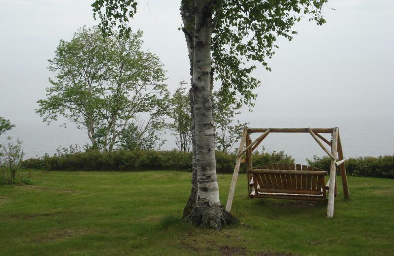 Lake view at Thomsonite Beach Inn & Suites.