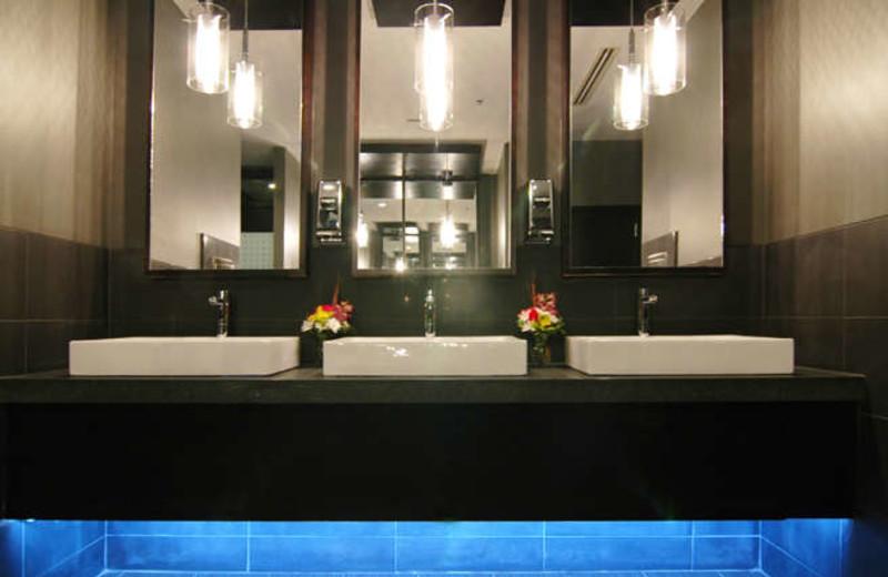 Sinks at Delta Edmonton Centre Suite Hotel.