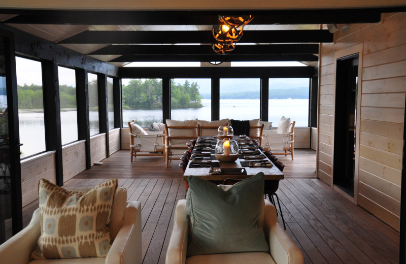 Rental dining room at At The Lake Vacation Rentals.