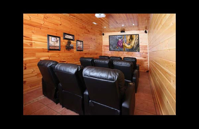 Cabin theater at Eden Crest Vacation Rentals, Inc. - Party Hut.