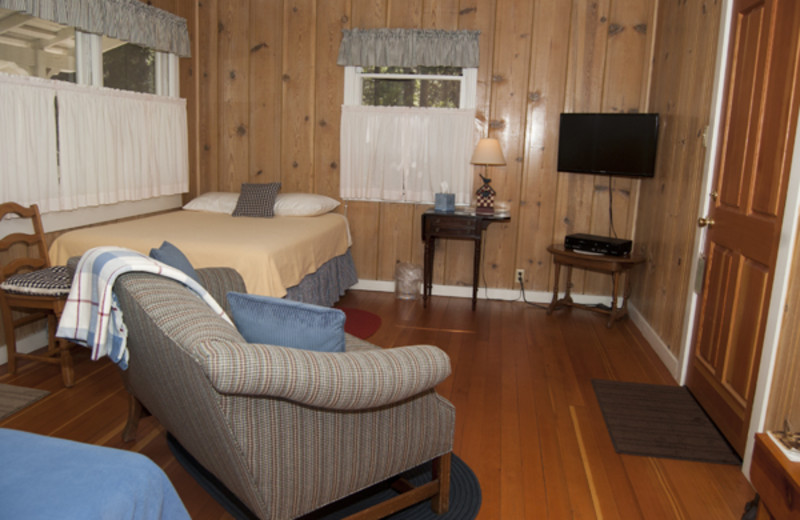 Guest room at Sugar Pine Ranch.