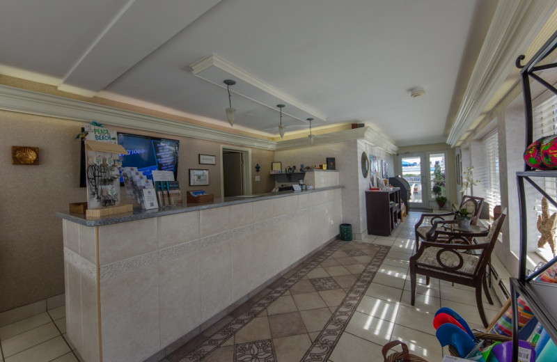 Lobby at Fleur De Lis Beach Resort.