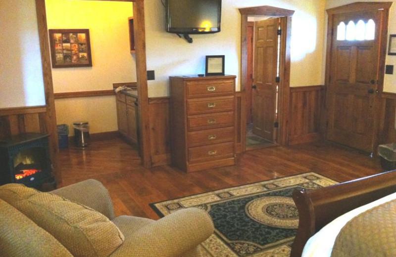 Lodge interior at The Lodges at Gettysburg.