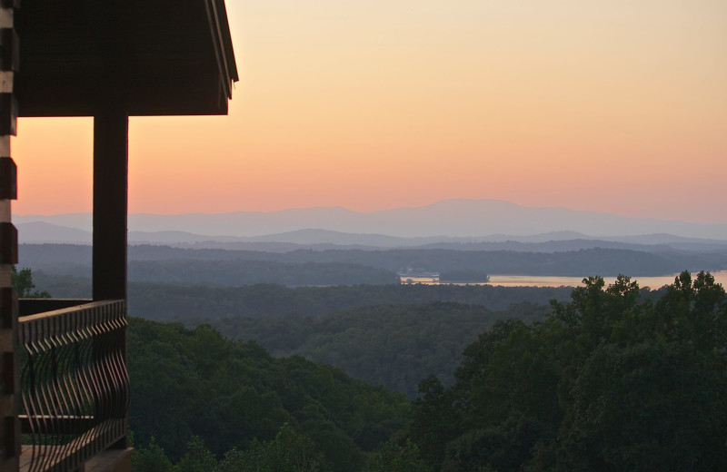 Sunset at Cabin Rentals of Georgia.
