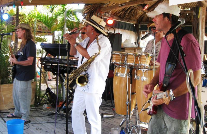 Live entertainment at Gilbert's Resort.