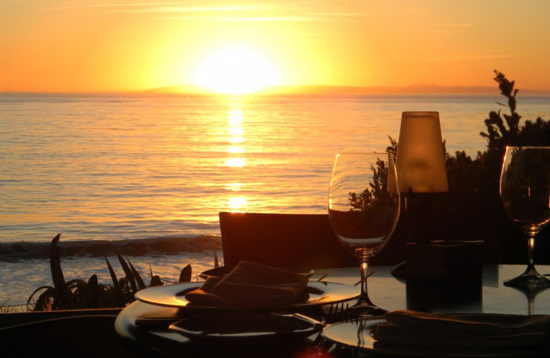 Romantic dining at Hotel Laguna.