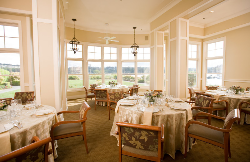 Dining room at The Resort At Port Ludlow.
