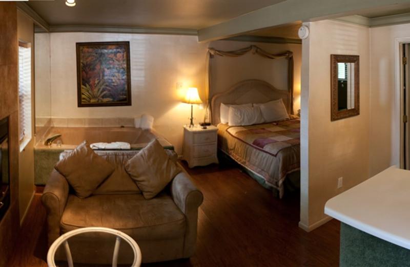 Cabin interior view at Old Creek Resort.