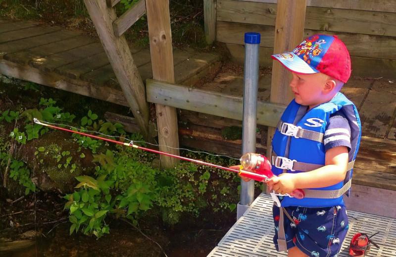 Fishing at Schatzi's 4 Seasons Resort.