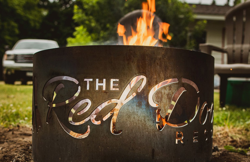 Bonfire at The Red Door Resort.