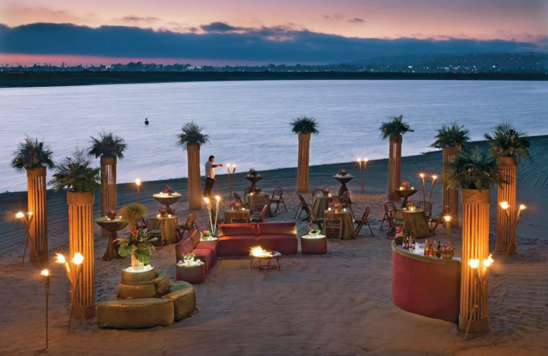 The beach at Hilton San Diego Resort & Spa.