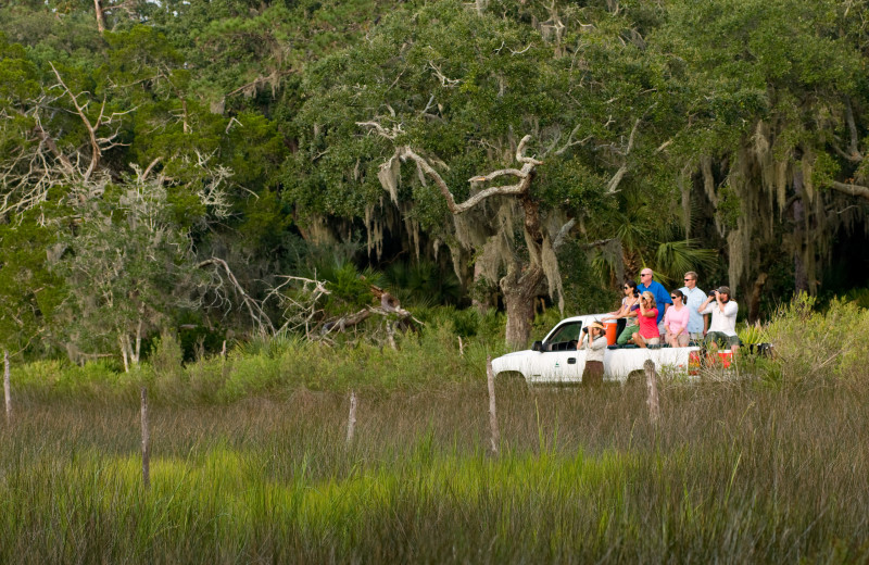 Off road tours at Lodge on Little St. Simons Island.