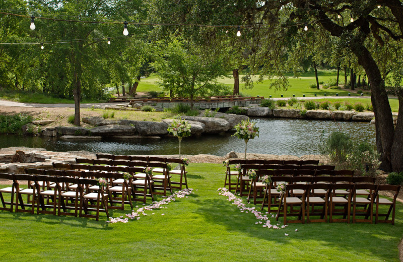 Wedding ceremony at Omni Barton Creek Resort & Spa.