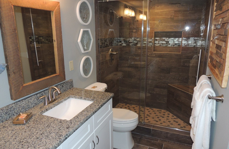Rental bathroom at The Islander in Destin.