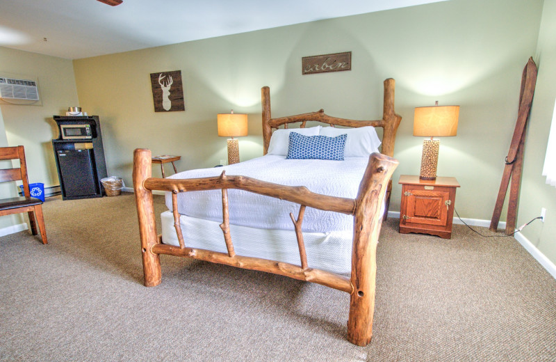 Guest room at East Shore Lodging.