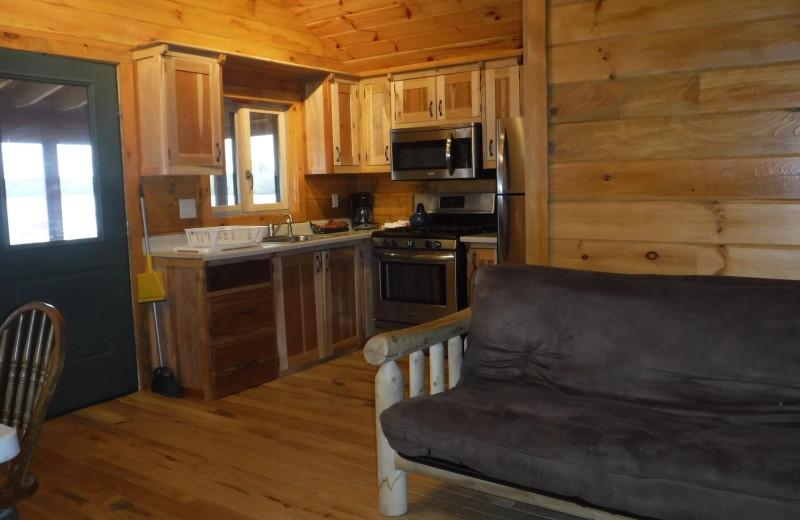 Cottage interior at Riverbay Adventure Inn.