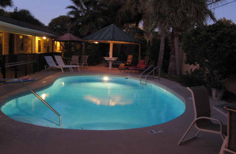 Outdoor pool at Wisteria Inn.