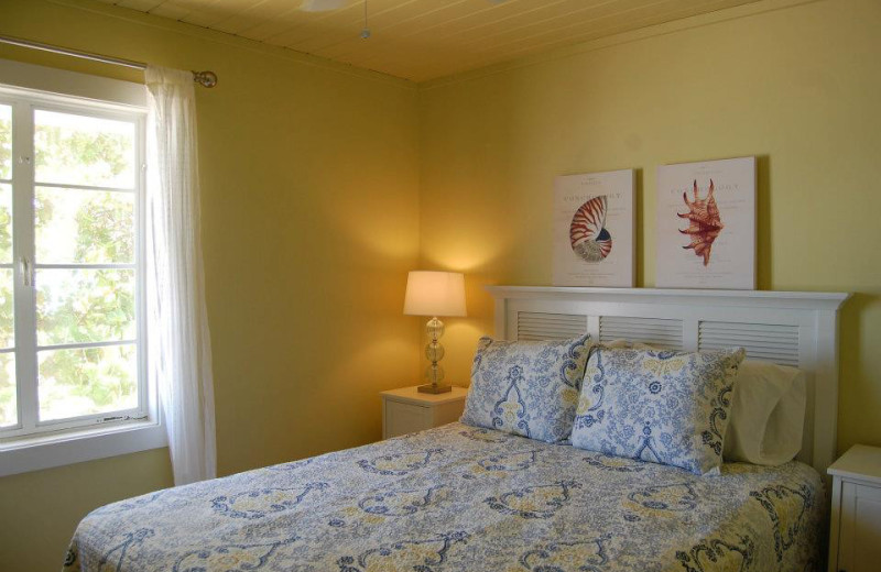 Rental bedroom at Sunset Beach Resort.